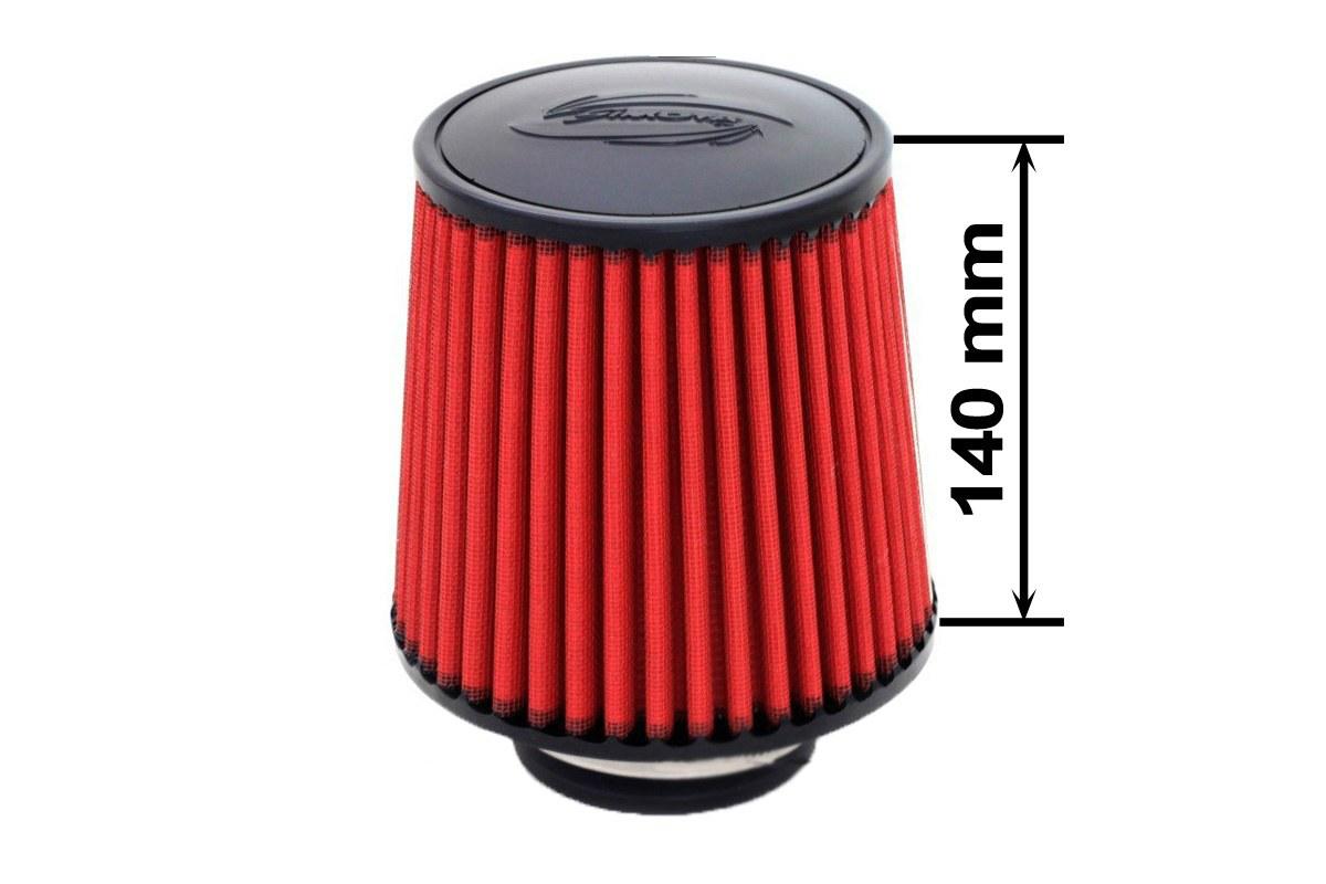 Filtr stożkowy SIMOTA JAU-X02101-06 60-77mm Red - GRUBYGARAGE - Sklep Tuningowy